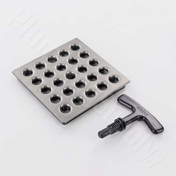Photo of 3-3/4 inch shower grate only in Antique Pewter