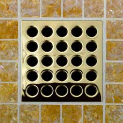 3-3/4 inch shower grate only - Polished Brass