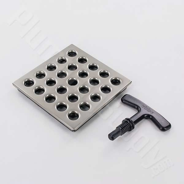 3-3/4 inch shower grate only - Satin Nickel
