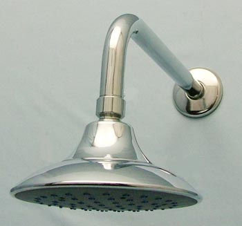 deluxe 6-inch rainfall showerhead