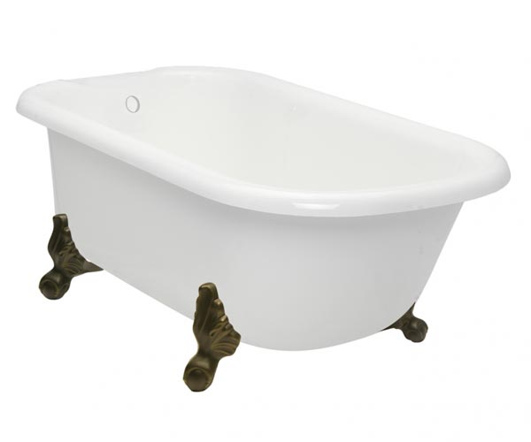 Classic George clawfoot tub with old world bronze feet