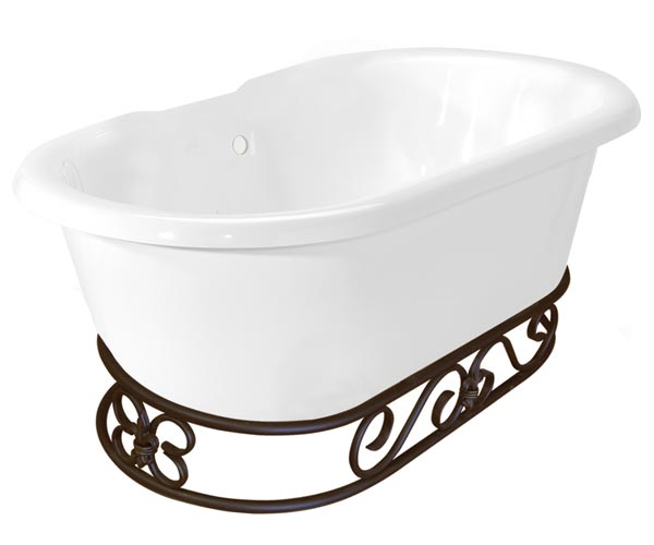 Miguel double tub with Fierro base in old world bronze