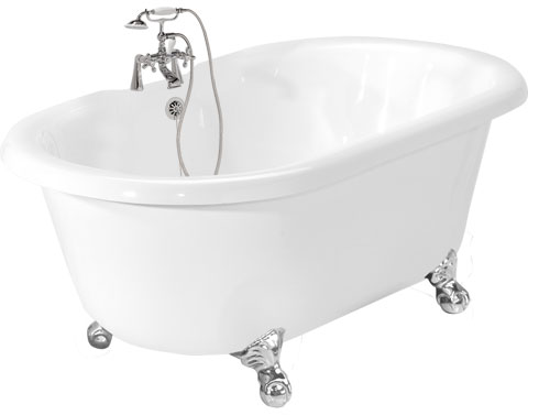 picture of the Celine champagne massage acrylic clawfoot tub