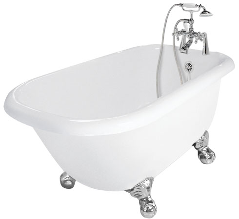 picture of the Marilyn champagne massage acrylic clawfoot tub