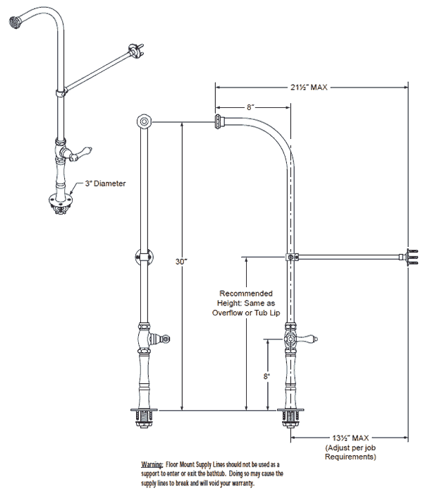 Tub Shower Faucets With Supply Lines