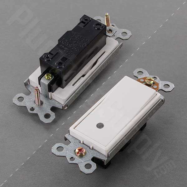 Hardwire momentary contact switch with LED light