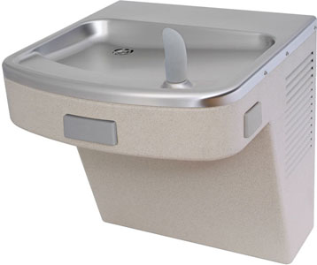 barrier free wall mount water cooler, shown in granite finish