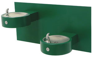 dual level handicap accessbile wall mount drinking fountain