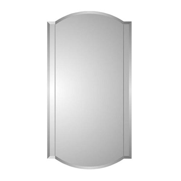 Zaca Betelgeuse Medicine Cabinet With Beveled Twin Arch Mirror
