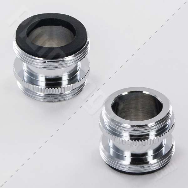 "Male 15/16""-27 x Male 55/64""-27 Extra Long Faucet Adapter 15-3070"