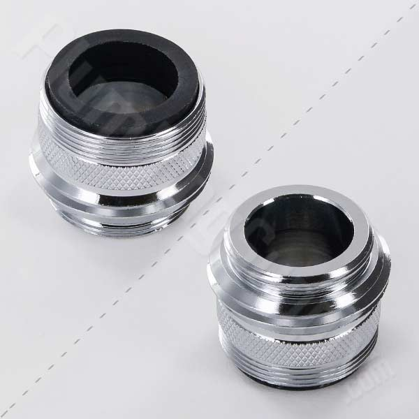 "Male 15/16""-27 + Female 55/64""-27 x Male 3/4"" MHT + Male 55/64""-27 Faucet Adapter 15-3420"