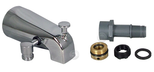 shower hook up to bathtub faucet.  Click here for Add a shower and hand diverter tub spout kits