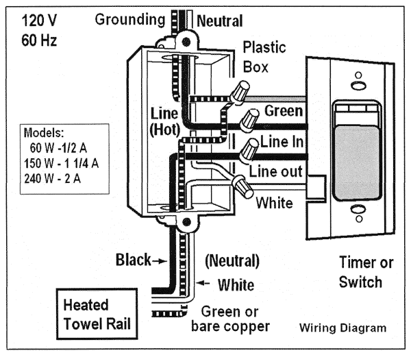 Towel Warmer Wiring Diagram | Wiring Diagram on pinout diagrams, electronic circuit diagrams, internet of things diagrams, smart car diagrams, switch diagrams, electrical diagrams, series and parallel circuits diagrams, honda motorcycle repair diagrams, friendship bracelet diagrams, transformer diagrams, lighting diagrams, engine diagrams, led circuit diagrams, sincgars radio configurations diagrams, hvac diagrams, motor diagrams, troubleshooting diagrams, gmc fuse box diagrams, snatch block diagrams, battery diagrams,