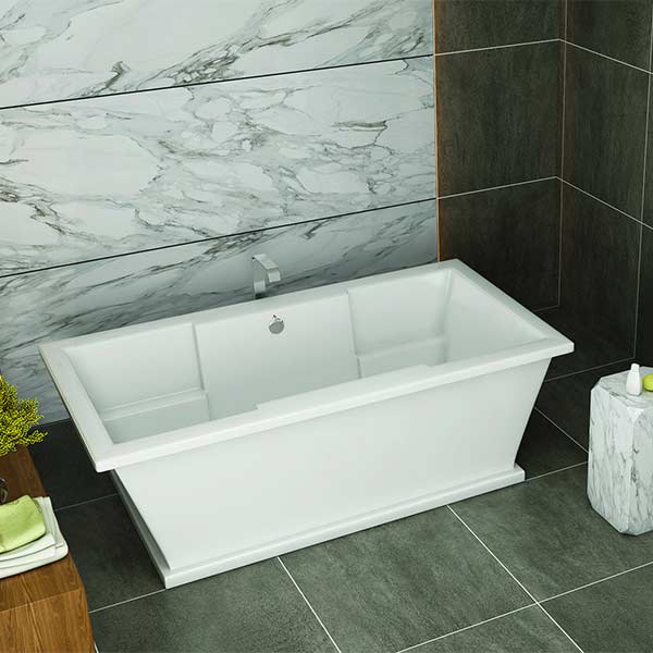 Americh Julep freestanding tub shown installed in bathroom