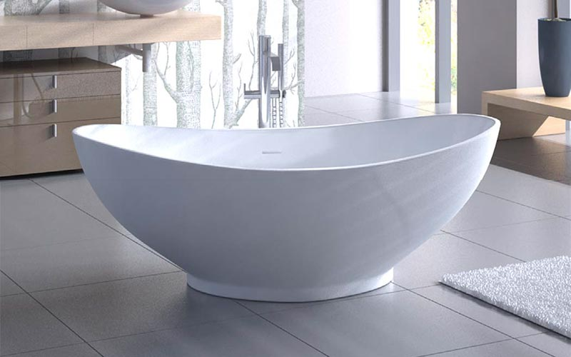 Americh ROC Collection Athens bathtub installed in bathroom
