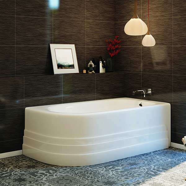 americh tubs bathtub skirted installed series in bathroom bathtubs tub bow shown