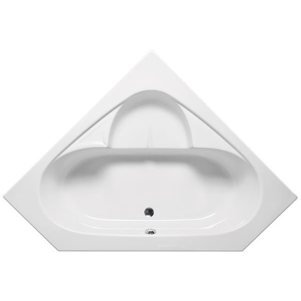 Bermuda I corner soaking tub with drain option