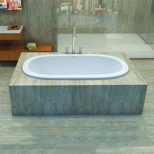 Americh Lynn drop-in tub shown installed in bathroom