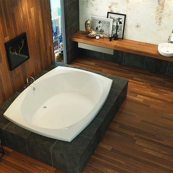 Americh Malibu tub shown installed in bathroom