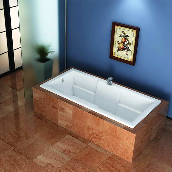 Americh Ren tub shown installed in bathroom