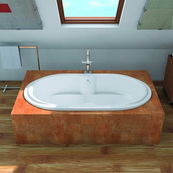 Americh Undine tub shown installed in bathroom