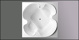 picture of Americh Cloverleaf drop in tub, shown in white