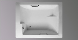 image of Americh Confidence drop in tub, shown in white