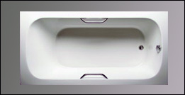 picture of Americh Alesia drop in tub, shown in white