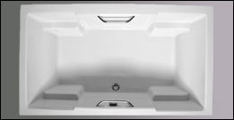 picture of Americh Quantum drop in tub, shown in white