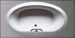 picture of Americh Tucci drop in tub, shown in white