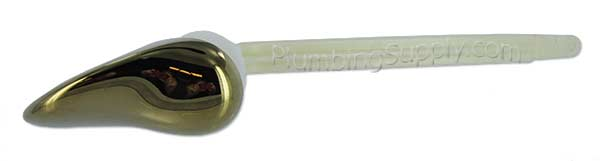 47192 0990a Left Hand Side Toilet Tank Lever Polished Brass