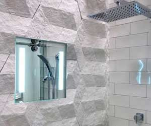 ShowerLite ClearMirror installed