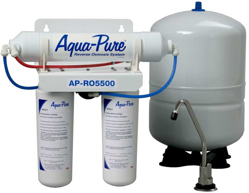 Reverse osmosis water filtration systems by aqua pure 3m for Water feature filtration system
