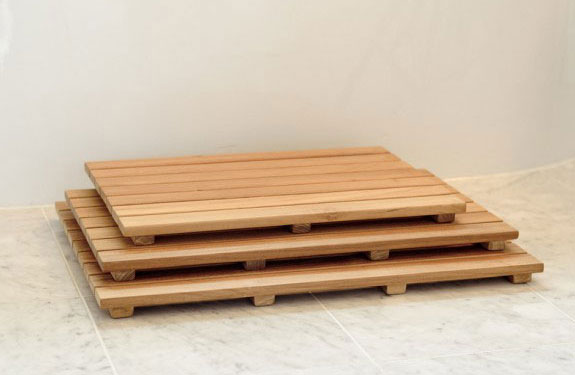 teak floor mats for your shower, pool, or steambath, Home decor