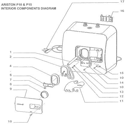 Ariston P10 and P15 components diagram
