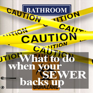 What To Do When Your Sewer Backs Up