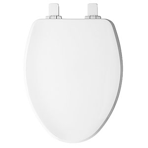 Elongated Will-Fit American Standard Laurel Molded Wood Toilet Seat - Cotton White