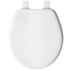 Round Will Fit American Standard Laurel Toilet Seat - Cotton White