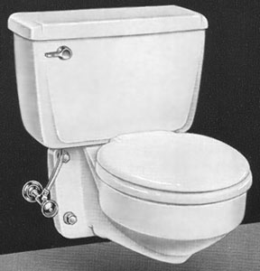 American Standard Vent-Away toilet with round seat