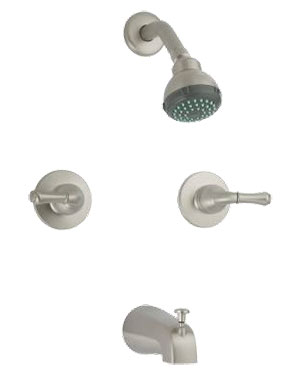 366 360 Series Contemporary Two Handle Tub Shower Faucet Lever Brushed Nickel 102 34 631 C 630 Victorian