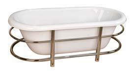 picture of the Carson acrylic tub with stainless steel wraparound