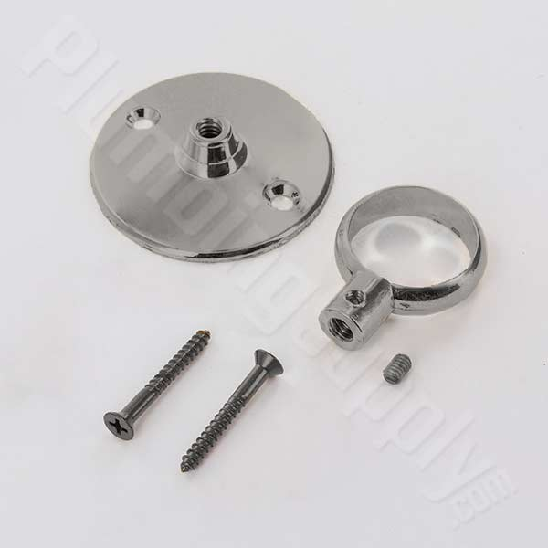 Barclay 340 flange and eyeloop for ceiling supports in Brushed Nickel