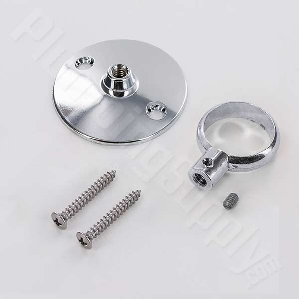 Barclay 340 flange and eyeloop for ceiling supports in Polished Chrome