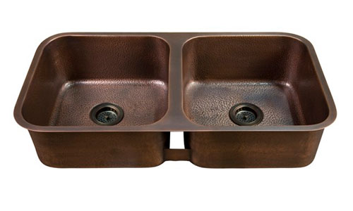 Barclay Double Bowl Undermount Copper Sink With Coved Corners Severn Coved  Corner