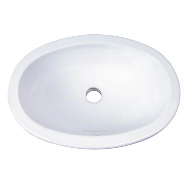 Barclay Lily lav sink can be undermounted or top mounted