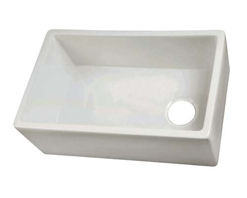 Undermount Bathroom Sink With Offset Drain barclay fire clay farmer &  kitchen utility sinks