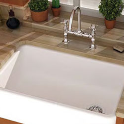 Barclay Fireclay A Front Kitchen Sink With Offset Drain