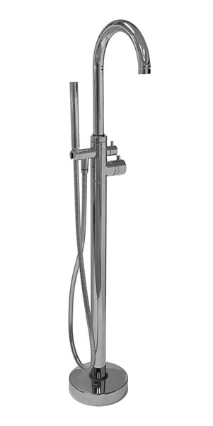 Freestanding faucet for clawfoot tubs