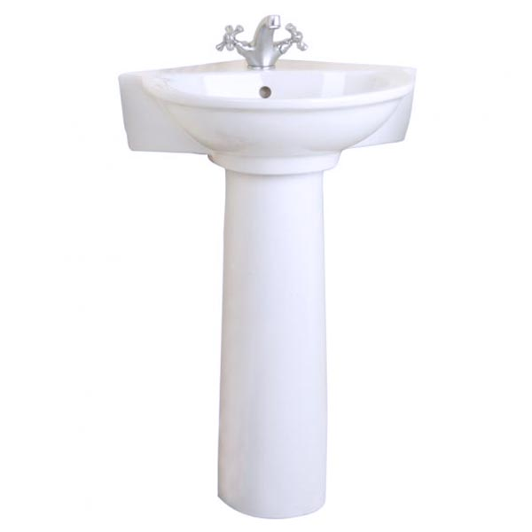 corner pedestal bathroom sinks barclay porcelain regular and corner pedestal sinks 17952