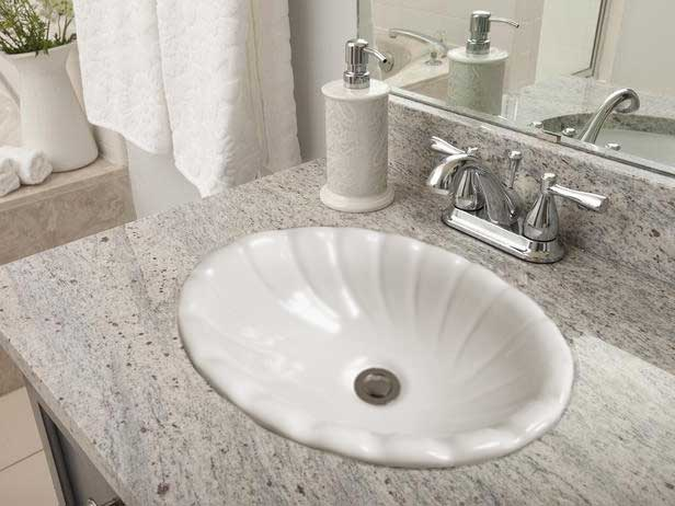 Small Drop In Vanity Sinks : Self-rimming (drop-in) bathroom sinks by Barclay